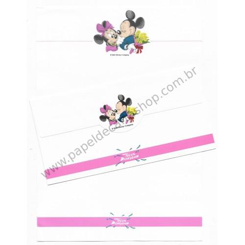 Conjunto de Papel de Carta ANTIGO VINTAGE Disney Tokyo Disneyland