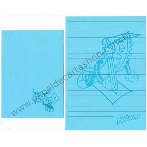 Conjunto de Papel de Carta ANTIGO Personagens Disney Frimme CAZ