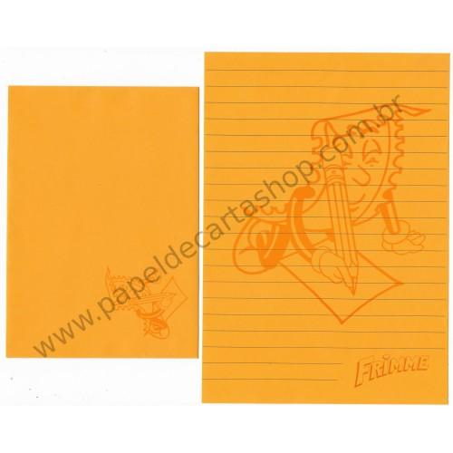 Conjunto de Papel de Carta ANTIGO Personagens Disney Frimme CAM