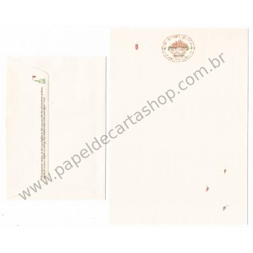 Ano 1985. Conjunto de Papel de Carta SARA MIDDA STRAWBERRY Vintage Sanrio
