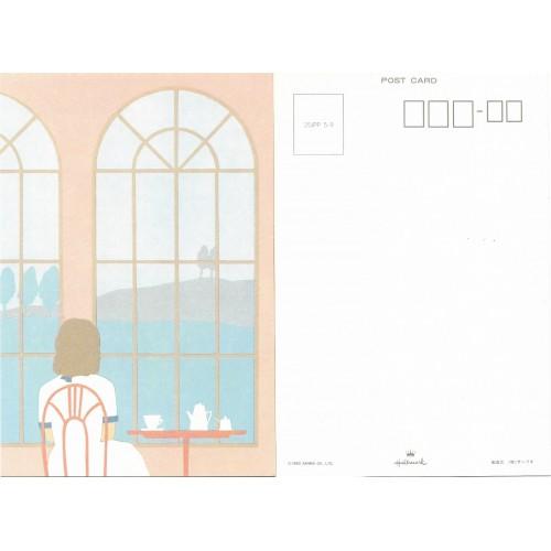 Ano 1983. Postcard Vintage Sanrio Hallmark Window