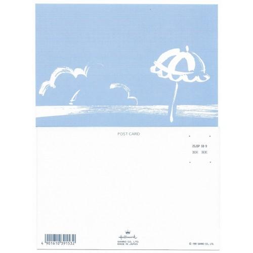 Ano 1989. Postcard Vintage Sanrio Hallmark Beach CAZ