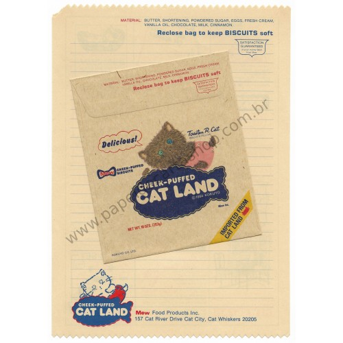 Conjunto de Papel de Carta Antigo (Vintage) Cat Land KOKUYO