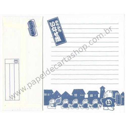 Conjunto de Papel de Carta Antigo (Vintage) Bears (BLUE)