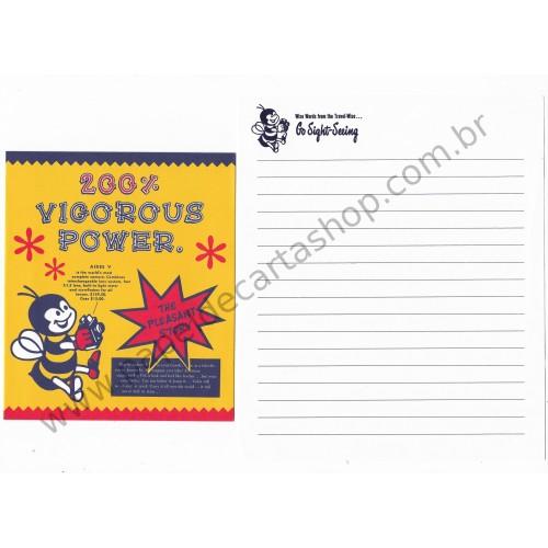 Conjunto de Papel de Carta Antigo (Vintage) Vigorous Power