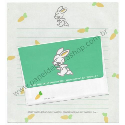 Conjunto de Papel de Carta Antigo (Vintage) Bunny CVD Victoria Fancy