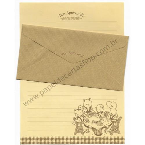Conjunto de Papel de Carta Antigo (Vintage) Bon Après-midi