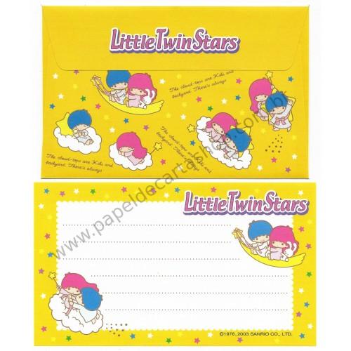 Ano 2003. Conjunto de Papel de Carta Little Twin Stars P Yellow Sanrio