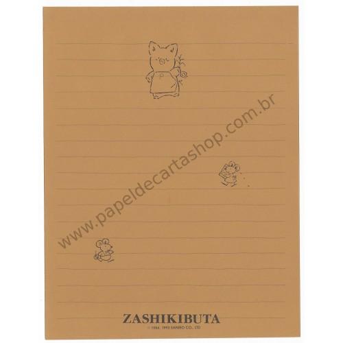Ano 1993. Papel de Carta AVULSO Zashikibuta Antigo (Vintage) Sanrio