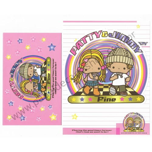 Ano 2003. Conjunto de Papel de Carta Patty & Jimmy Fine Sanrio