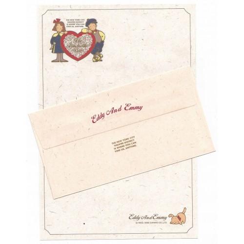 Ano 1985. Conjunto de Papel de Carta Vaudeville Duo CVD Vintage Sanrio