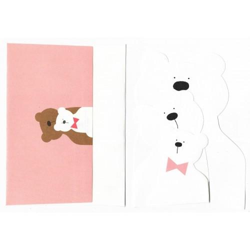 Ano 1985. Conjunto de Papel de Carta Bears Vintage Sanrio