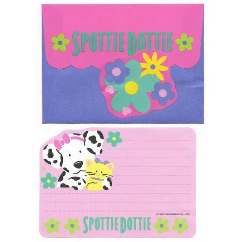 Ano 1995. Conjunto de Papel de Carta Antigo Spottie Dottie P Sanrio