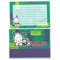 Ano 1998. Conjunto de Papel de Carta Pochacco CVD Vintage P Sanrio