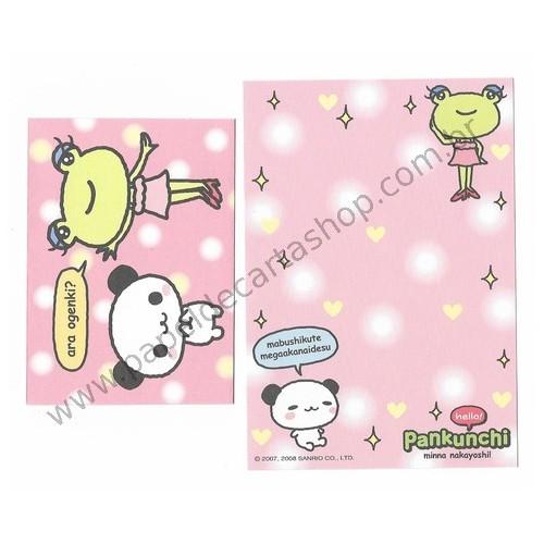 Ano 2008. Conjunto de Mini Papel de Carta Pankunchi CRS Sanrio