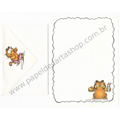 Conjunto de Papel de Carta Garfield Having Lunch - Paws