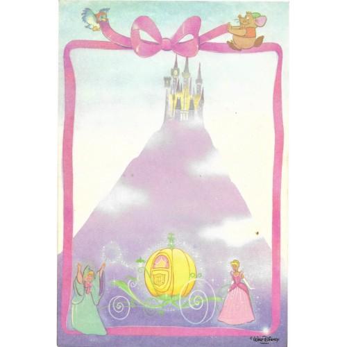 Papel de Carta Avulso Antigo Cinderella