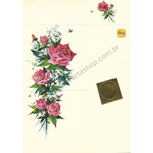 Postalete Antigo Importado Red Roses