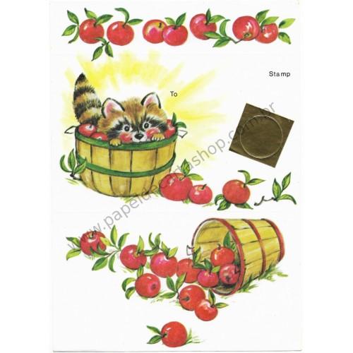 Postalete Antigo Importado Apples