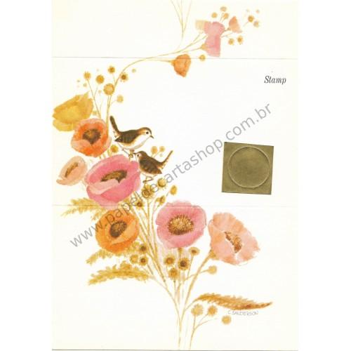 Postalete Antigo Importado Pink Bird - Current