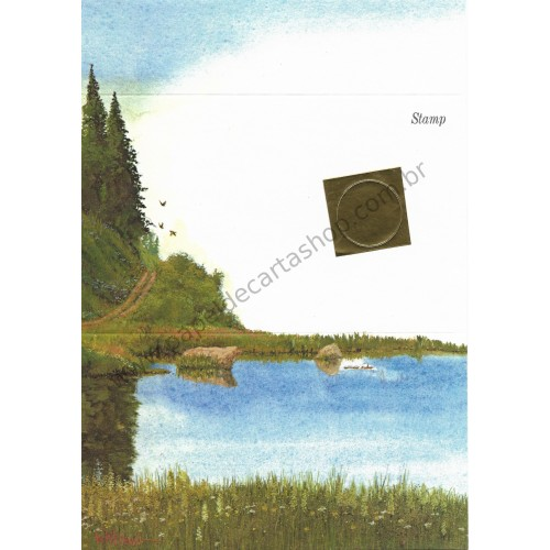 Postalete Antigo Importado Beautiful Lake 1979 - Current