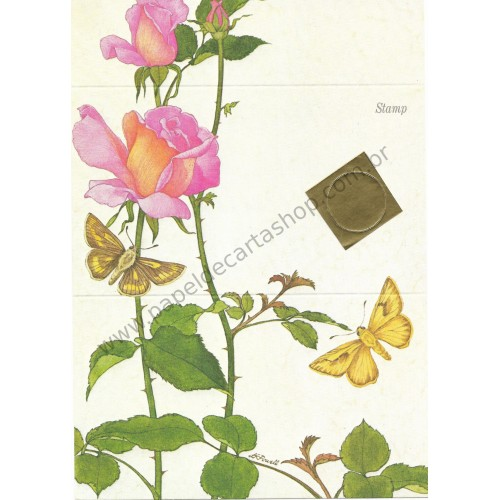 Postalete Antigo Importado Roses CRS - Current