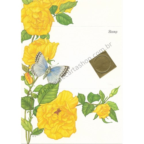 Postalete Antigo Importado Butterfly CAZ 1979 - Current