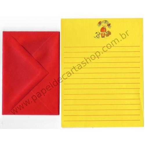 Conjunto de Papel de Carta Antigo Importado Honey Bunch - Eaton
