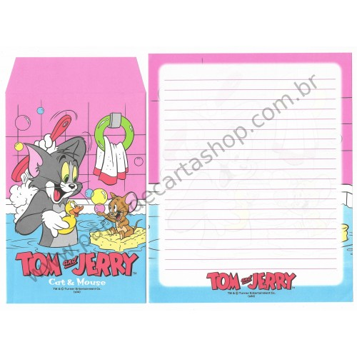 Conjunto de Papel de Carta IMPORTADO Tom & Jerry (s04) 4