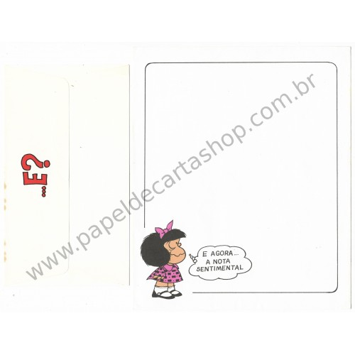 Conjunto de Papel de Carta ANTIGO Mafalda