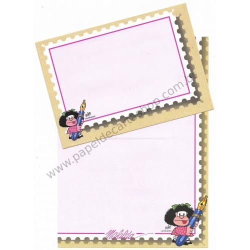 Conjunto de Papel de Carta IMPORTADO Mafalda CRS