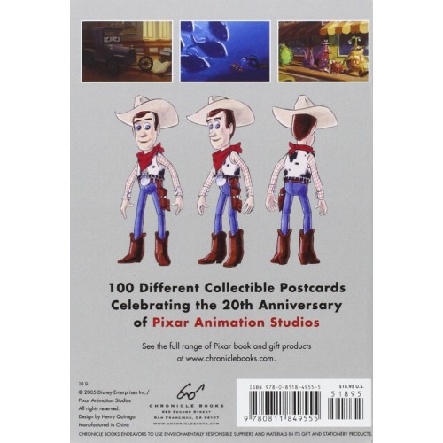 The Art of Pixar - 100 Collectible Postcards