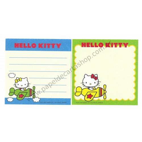 Ano 2000. Kit 2 Notas Hello Kitty Airplane Vintage Sanrio