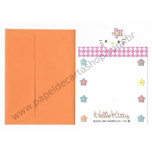Ano 1997. Mini-Cartão Hello Kitty Sanrio