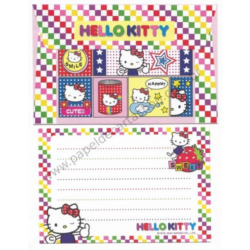 Ano 2002. Conjunto de Papel de Carta P Hello Kitty Happy Sanrio