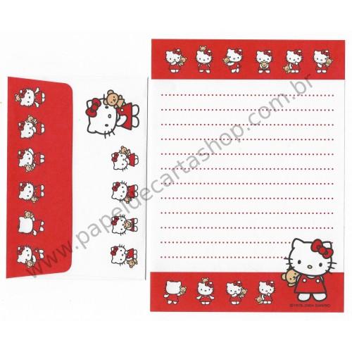 Ano 2004. Conjunto de Papel de Carta P Hello Kitty Bear Sanrio