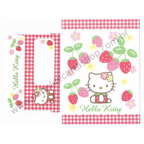 Ano 2007. Conjunto de Papel de Carta Hello Kitty Straw CVM P Sanrio