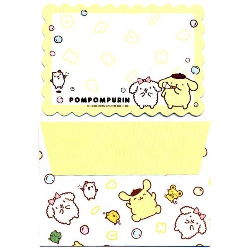 Ano 2015. Kit Mini-Cartão de Mensagem Pompompurin II Sanrio