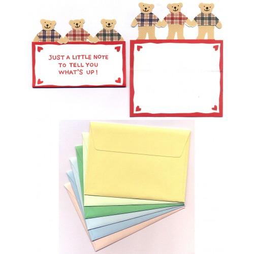 Ano 1995. Kit Mini-Cartão de Mensagem Bears Sanrio
