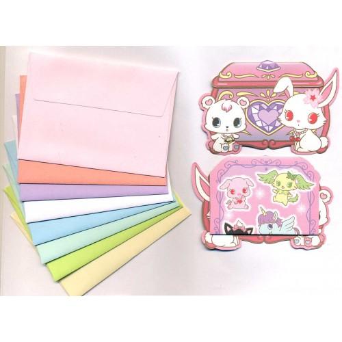 Ano 2010. Kit Mini-Cartão de Mensagem Jewelpet I Sanrio