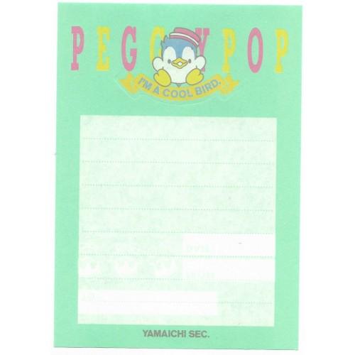 Ano 1995. Nota Dobrável Peggypop Vintage Sanrio