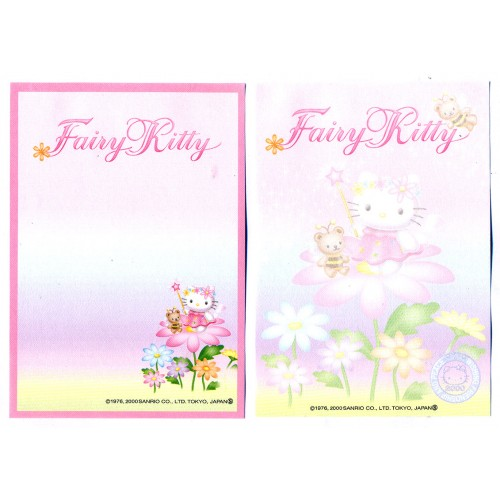 Ano 2000. Kit 2 Notas Hello Kitty Fairy Kitty CRS Vintage Sanrio