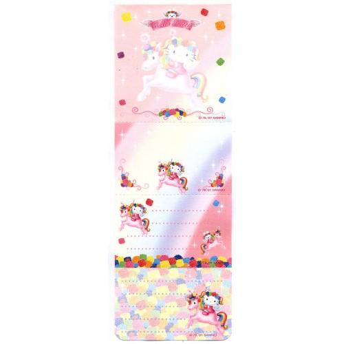 Ano 2001. Nota Hello Kitty Unicorn Vintage Sanrio