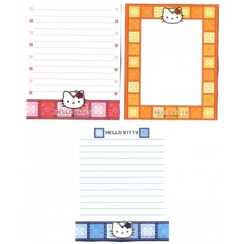 Ano 2001. Kit 3 Notas Grandes Hello Kitty Vintage Sanrio
