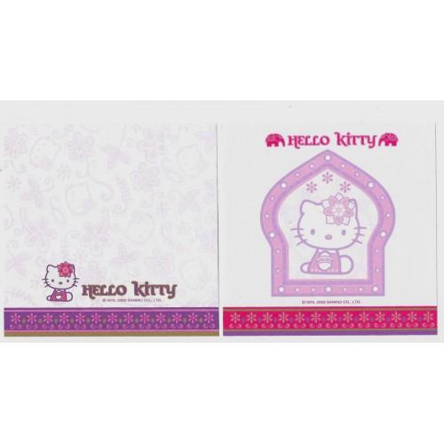 Ano 2000. Kit 2 Notas Hello Kitty Indiana Antigo (Vintage) Sanrio