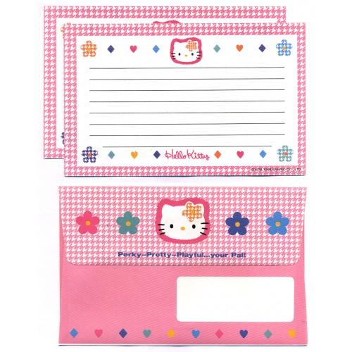 Ano 1996. Conjunto de Papel de Carta Hello Kitty Perky Vintage Sanrio