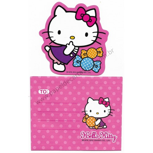 Ano 2013. Cartão Pequeno Hello Kitty Candy (CRS) Sanrio