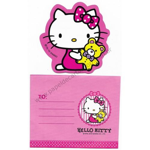 Ano 2013. Cartão Pequeno Hello Kitty Yellow Bear (CRS) Sanrio