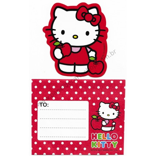 Ano 2013. Cartão Pequeno Hello Kitty & Apples (CVM) Sanrio