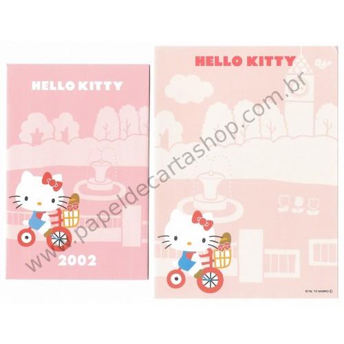 Ano 2013. Conjunto de Mini-Papel de Carta Hello Kitty 40th (2002 CRS) Sanrio